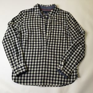 TOMMY HILFIGER Blue Plaid Long Sleeve Top